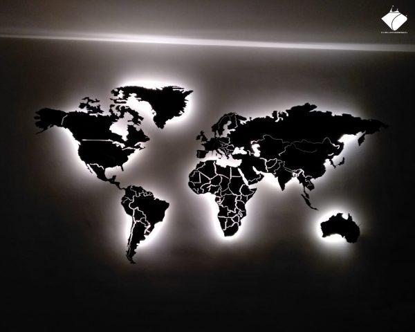 Planisfero ®magnetico laccato nero opaco