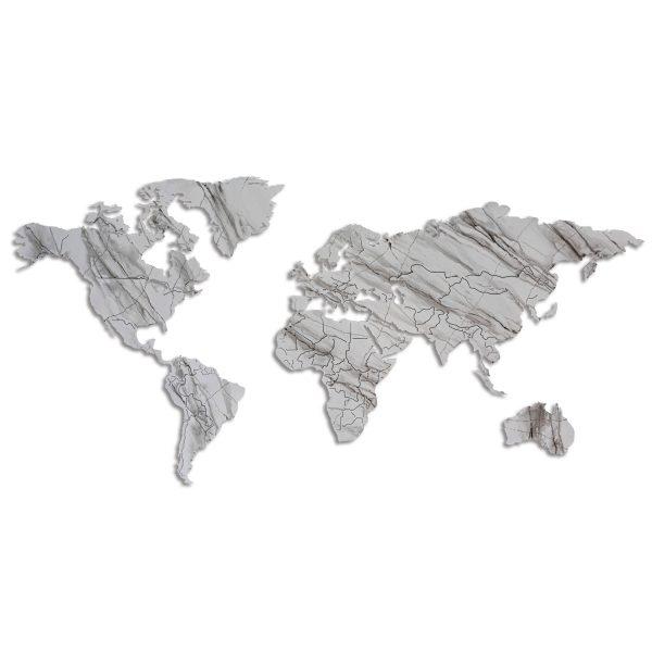 Planisfero®  magnetico effetto marmo di Carrara