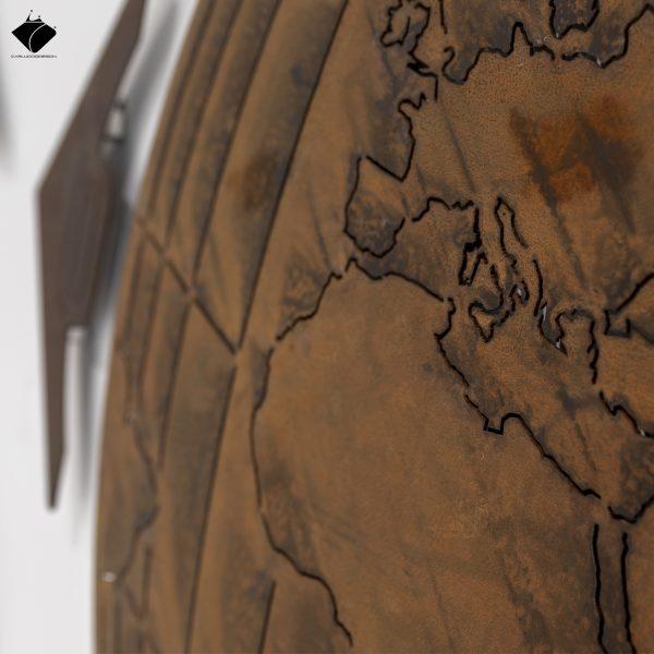 Mappamondo® acciaio corten