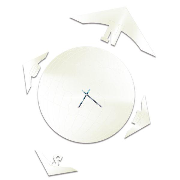 Mappamondo® magnetico laccato bianco